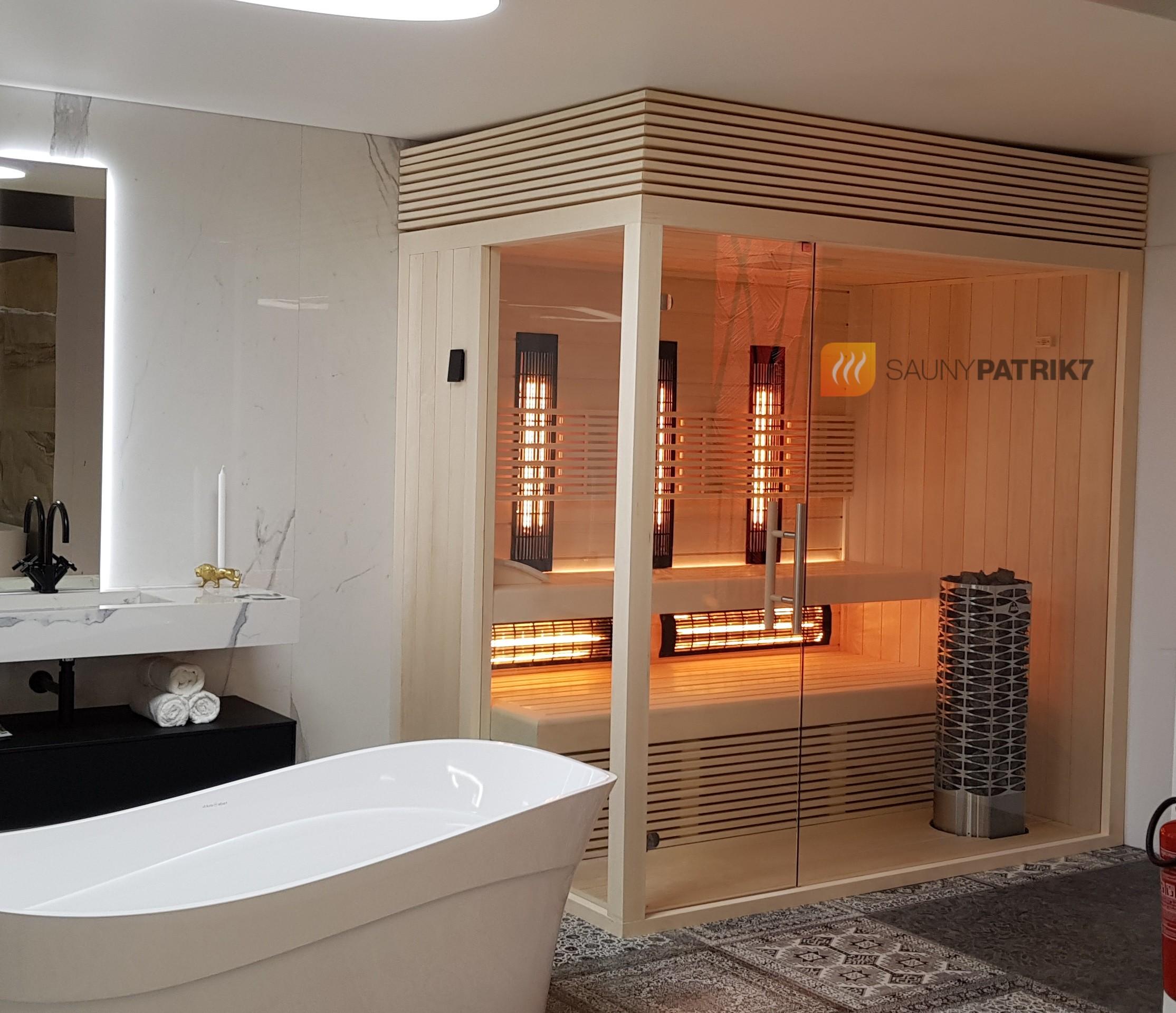 Biela osika - kombinovana sauna - sauny patrik 7