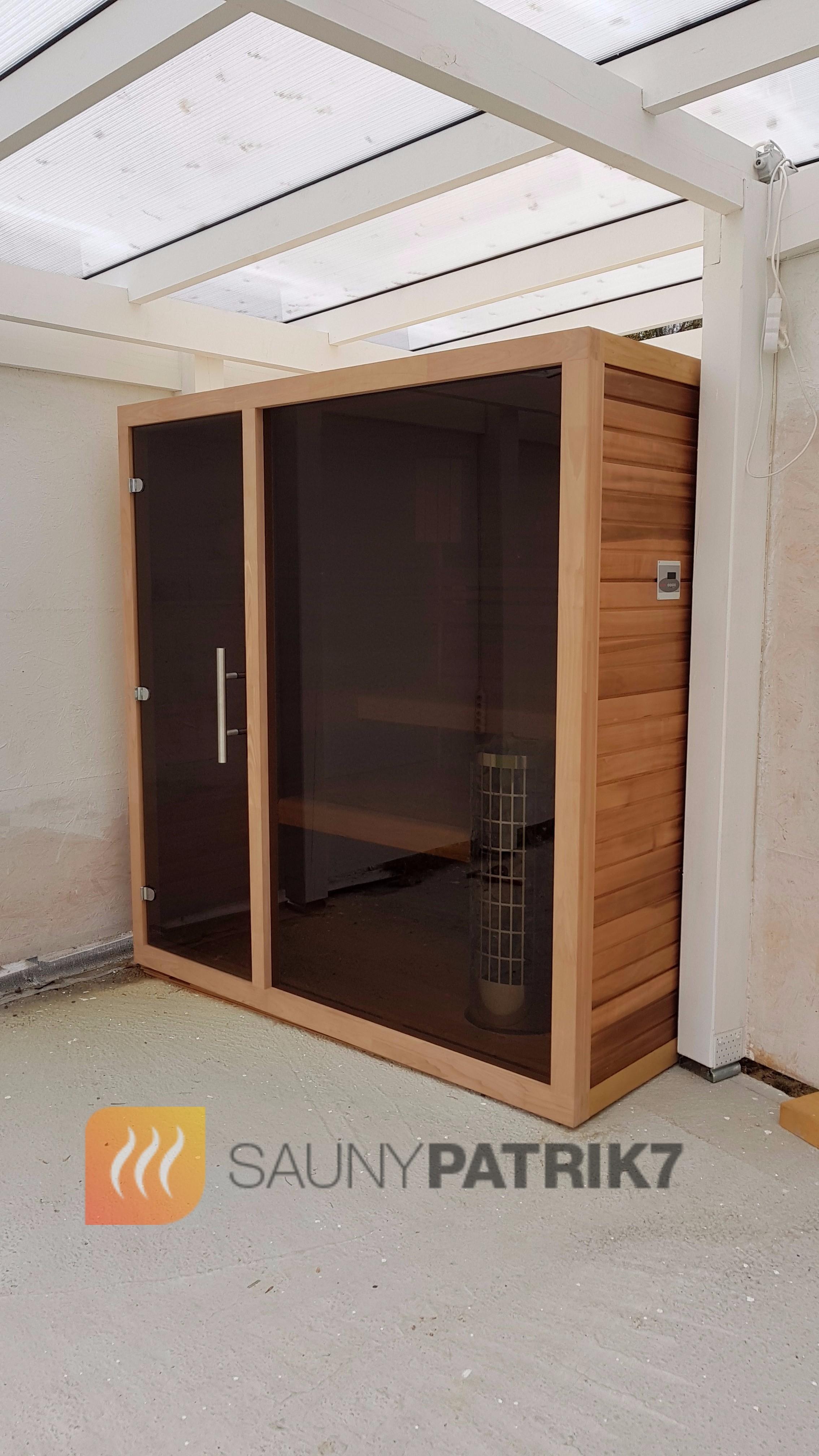 finska sauna v poloexteriery - sauny patrik 7