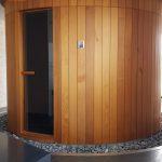 Kruhová fínska sauna - Sauny na mieru - Sauny Patrik 7