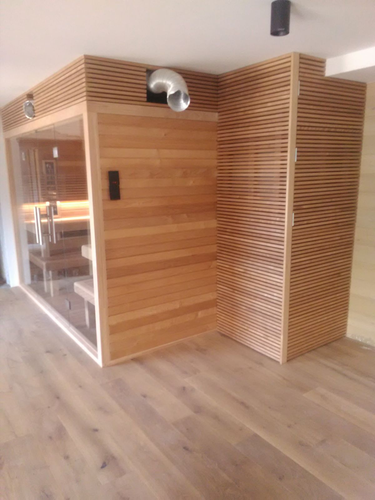kombinovana sauna na mieru