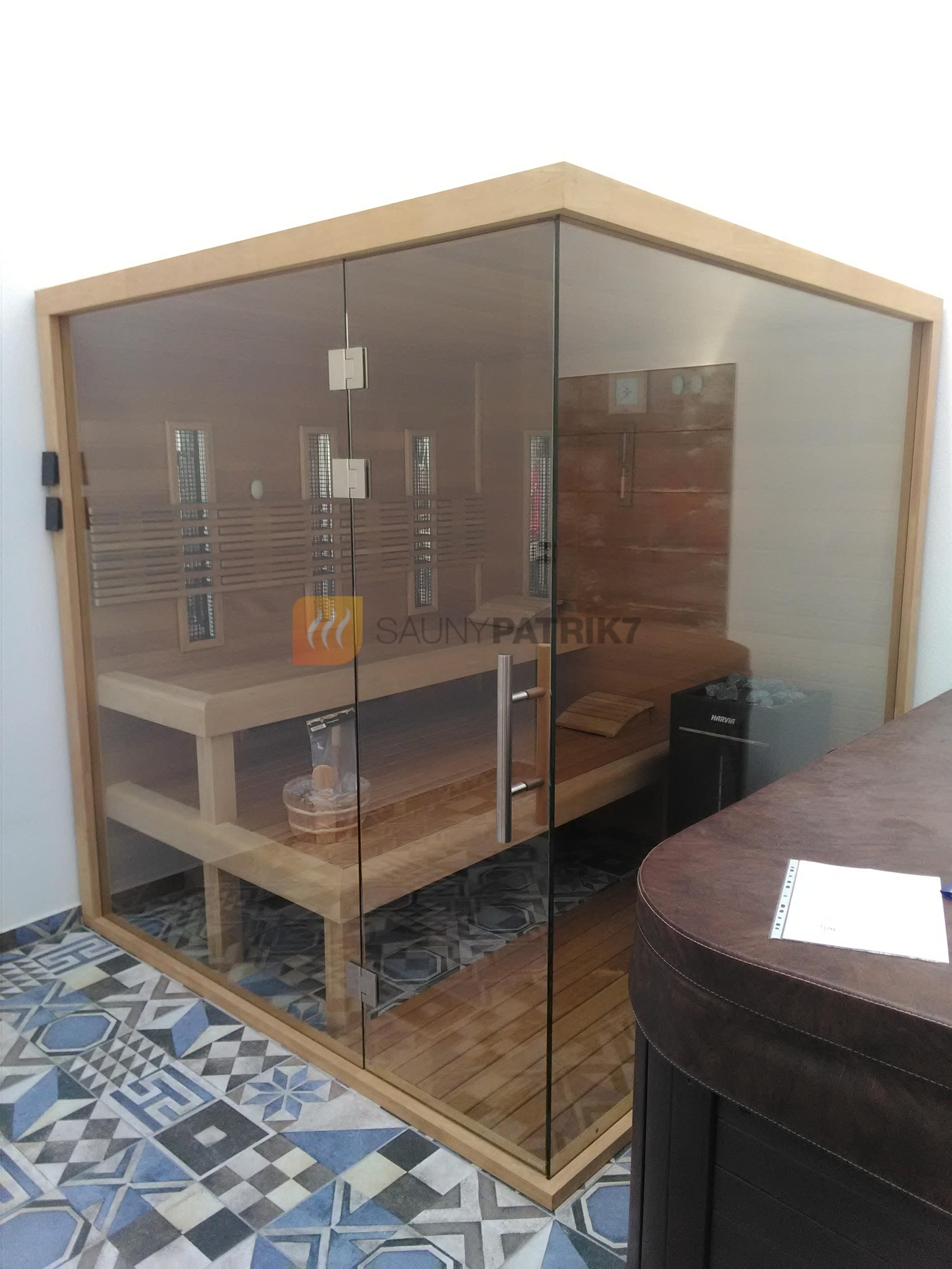 presklena kombinovana sauna - thermowood - sauny patrik 7