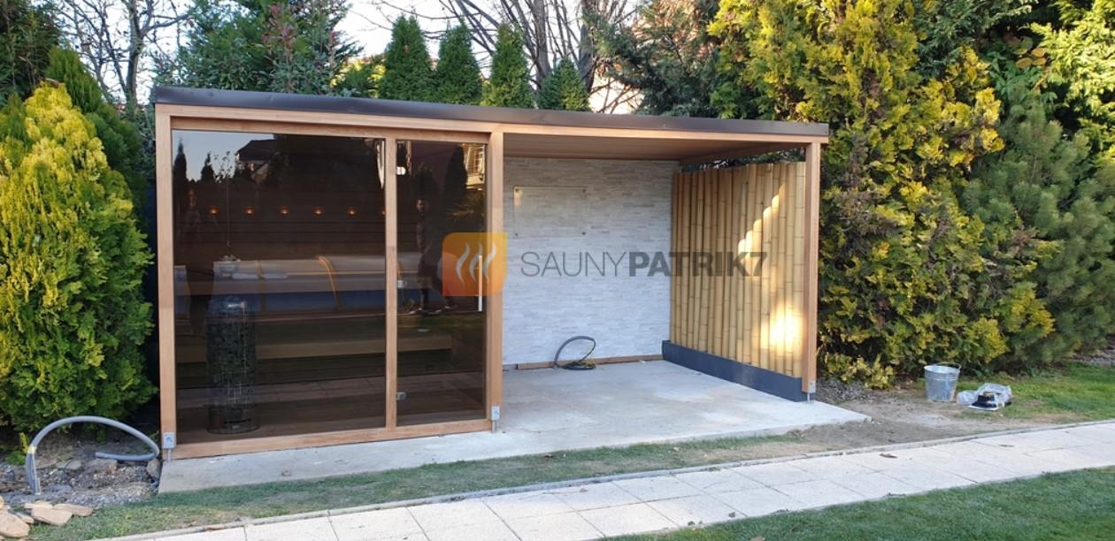 exterierova sauna, kombinovana sauna, prestresenie - sauny patrik 7